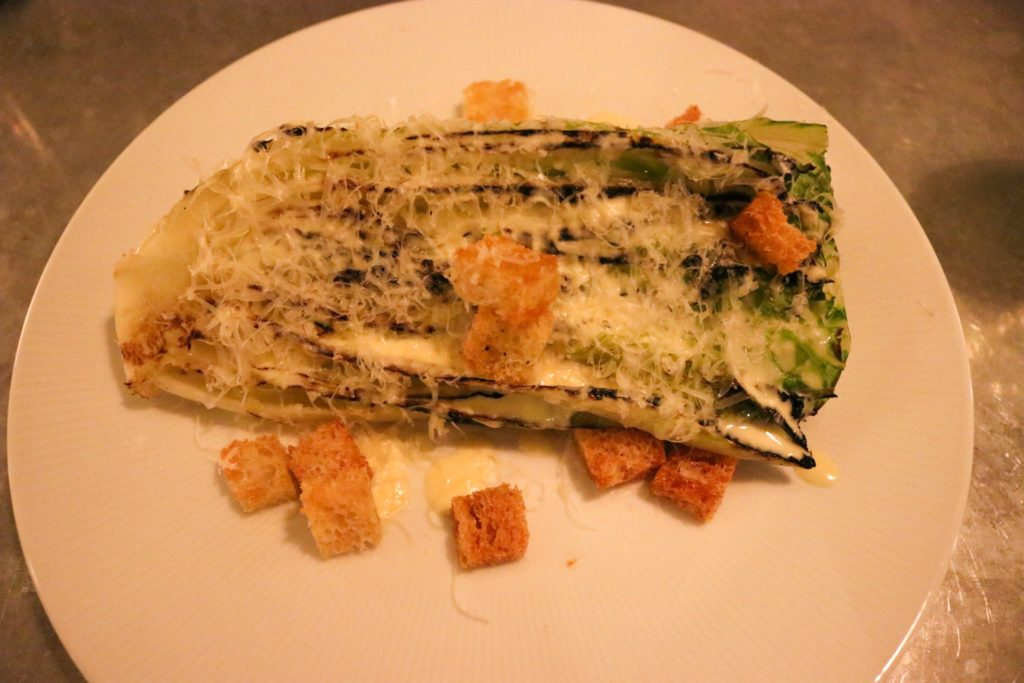 August Restaurant NYC charred caesar salad