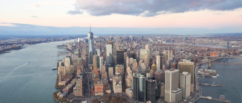 Flying over NYC
