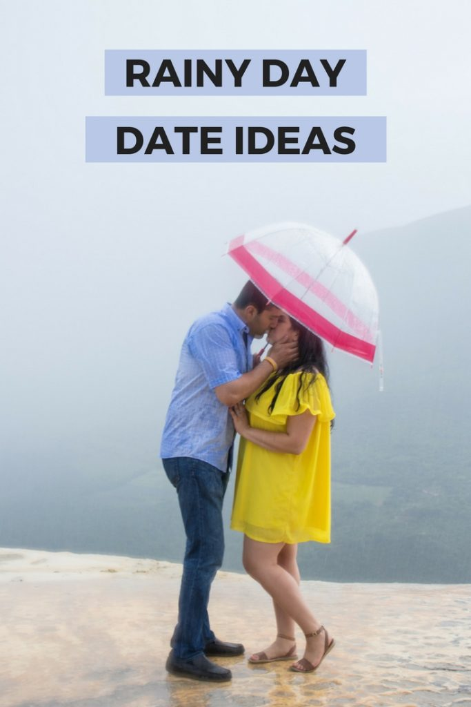 Fun rainy day date date ideas whether you prefer to stay home, go out, or get wet outside #dateideas #rainydaydateideas