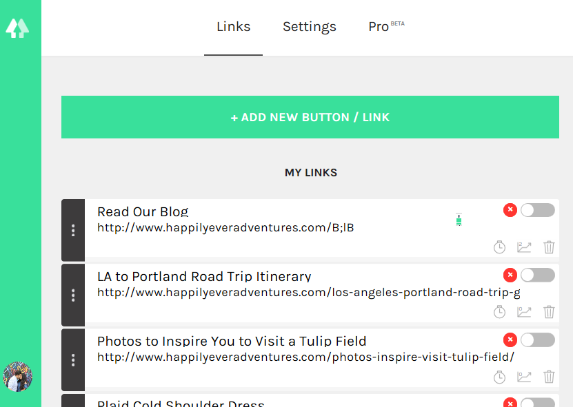 How to add multiple links on instagram happily ever adventures once you add your links itll look like this ccuart Gallery