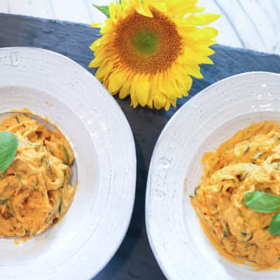 Creamy Roasted Red Pepper Sauce Pasta