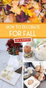How to decorate for fall on a budget #falldecor #fallhome #budgetdecor
