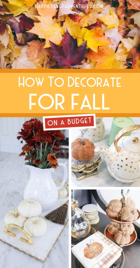 How to decorate for fall on a budget #falldecor #fallhome #budgetdecor