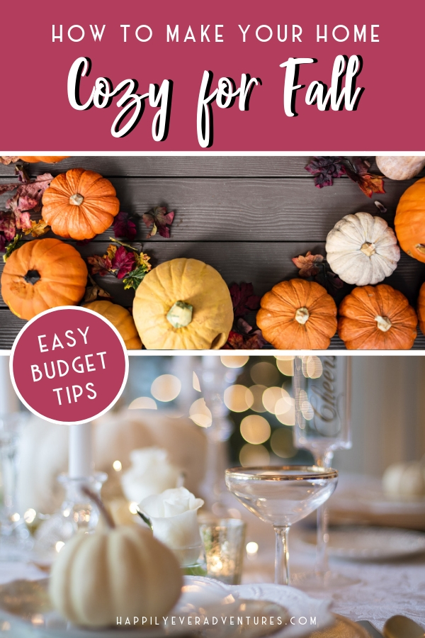How to make your home cozy for fall and create cozy fall vibes on a budget #falldecor #cozyhome
