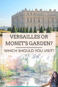 Versailles or Monet's Garden. Which one should you visit? #france #daytripfromparis #versailles #monetsgarden #giverny #europe