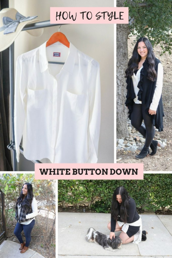 How to style a white button shirt multiple ways and other wardrobe essentials #capsulewardrobe