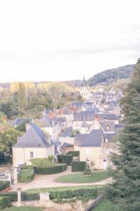 View of the village near Chateau de Chaumont