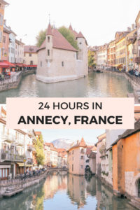 One Day in Annecy, France a 24 hour travel guide to the best things to do, eat, and where to stay. Annecy is the perfect day trip from Lyon, France or Geneva, Switzerland