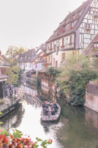 The prettiest canals in Colmar, France. You'll feel like you're in a fairy tale. Add this destination to your Europe bucket list!