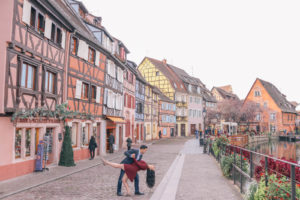 The prettiest candy colored buildings in the fairy tale town of Colmar, France