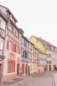 What to do in the charming and beautiful town of Colmar, France. So many pretty little streets, candy colored buildings and canals. You'll feel like you're in Amsterdam or Venice.