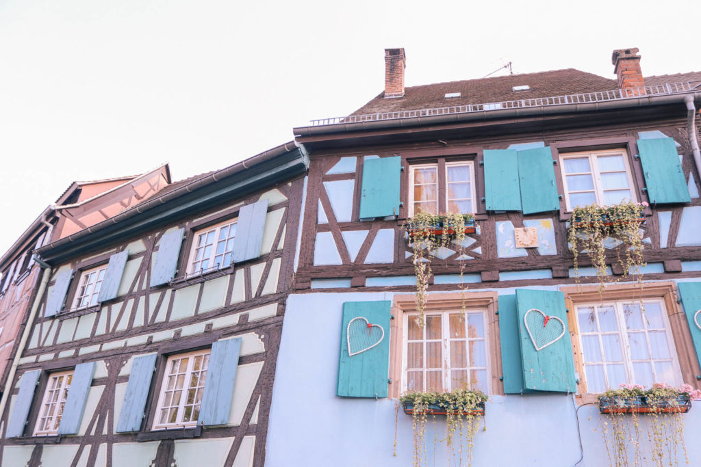 Fairy tale Disney like village in Colmar, France