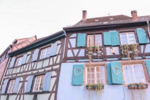 Fairy tale Disney like village in Colmar, France