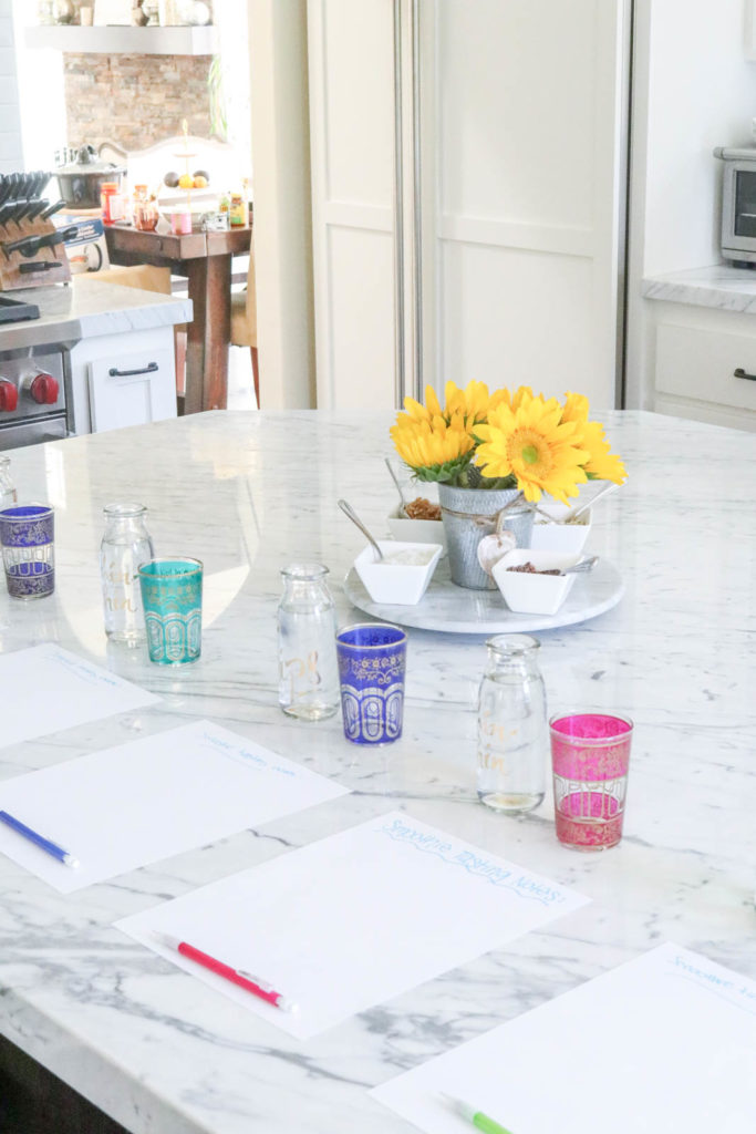 How to set up a fruit free smoothie tasting party