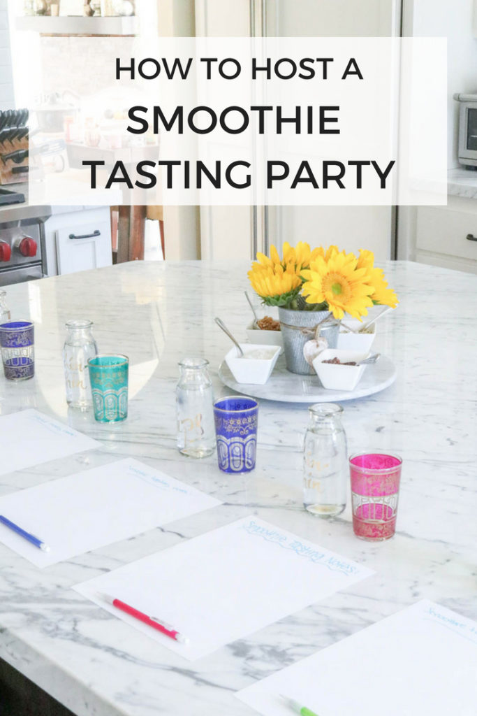 How to host a smoothie tasting party. Perfect for a healthy brunch entertaining idea!