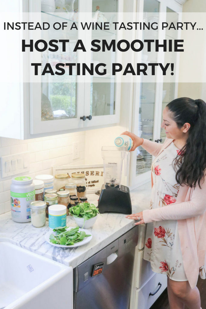 Instead of a wine tasting party, why not host a smoothie tasting party! Much healthier, perfect for a brunch party, and a fun entertaining idea!