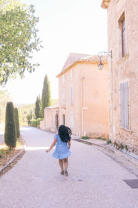 Running through the streets of Provence