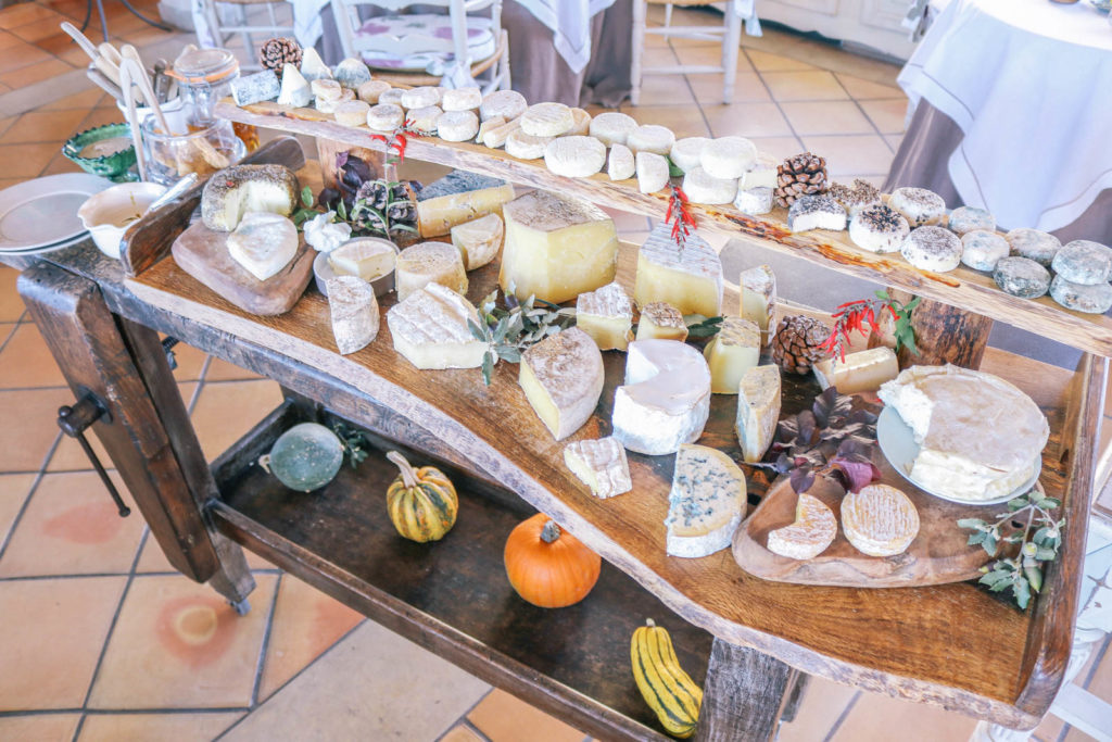 the cheese cart at Edouard Loubet