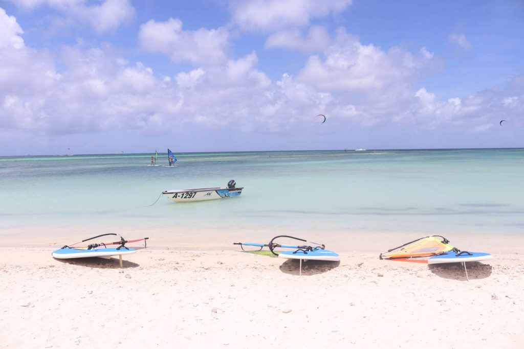 Watersports on Aruba honeymoon