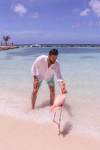 Romantic things to do on Aruba honeymoon or romantic getaway: Flamingo Beach