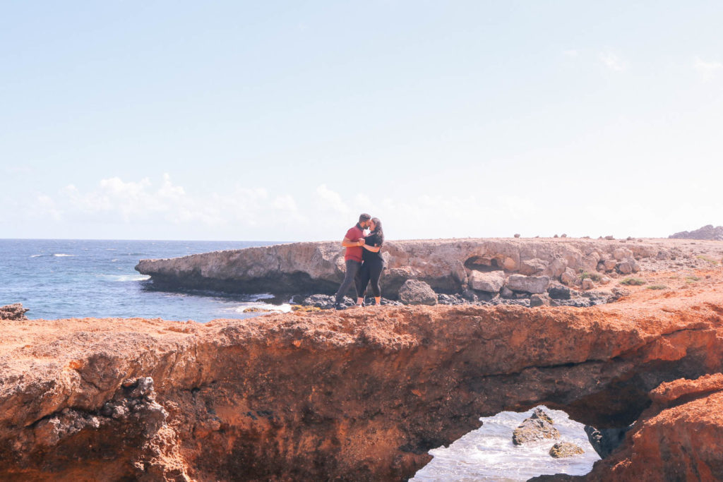 natural bridge in Aruba, perfect for romantic adventure travel