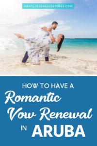 How to have a romantic beach vow renewal no matter how long you've been married. This vow renewal is held on Eagle Beach in Aruba and is the largest vow renewal in the Caribbean