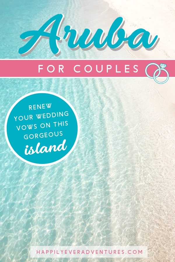 The ultimate guide to renewing your vows on the gorgeous island of Aruba in the Caribbean. All you need to know to participate in this beach vow renewal. Such an amazing bucket list item for couples! #aruba #vowrenewal