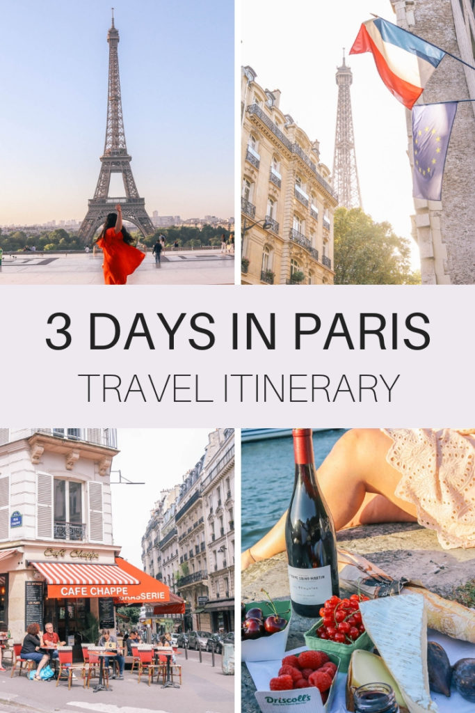 3 days in Paris travel itinerary. Where to stay, what to eat, things to do in Paris, France