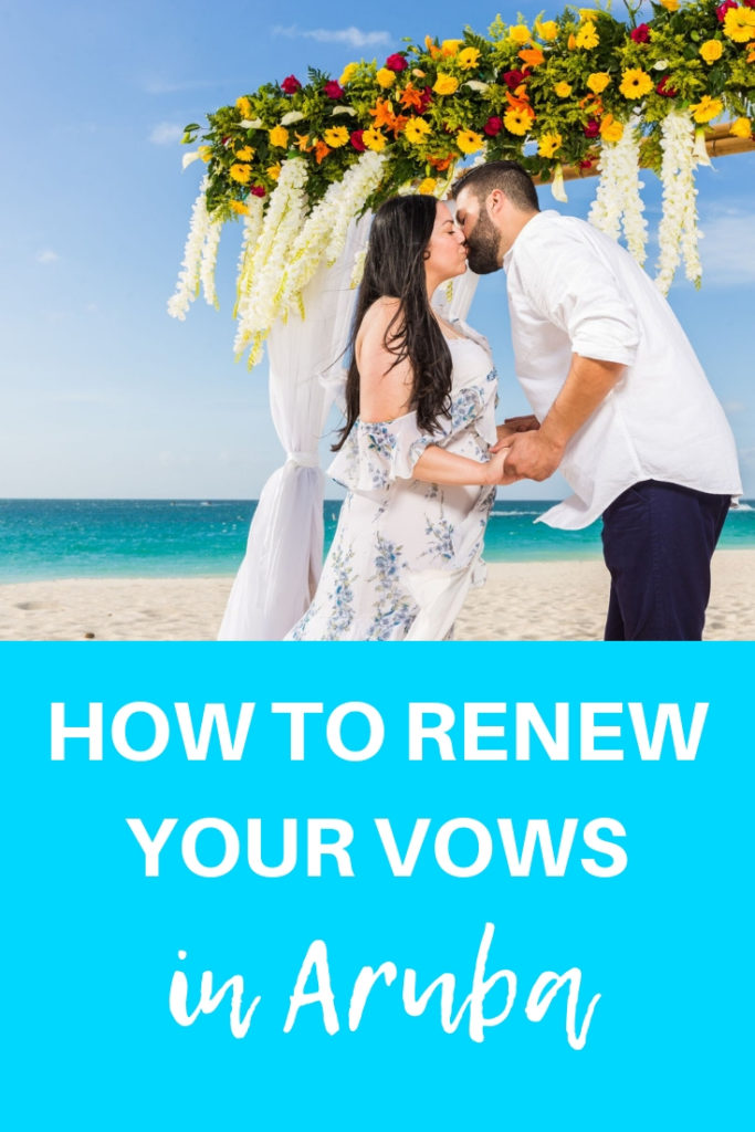 How to renew your vows in Aruba at the most romantic beach vow renewal