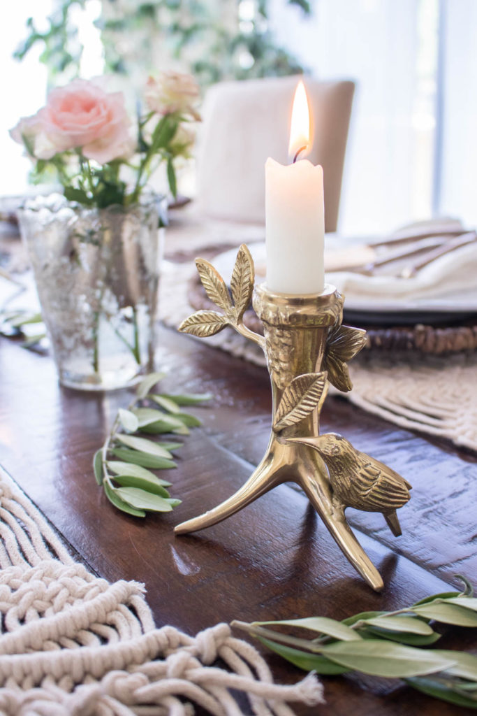 How to host a French inspired dinner party, create a simple rustic glam tablescape