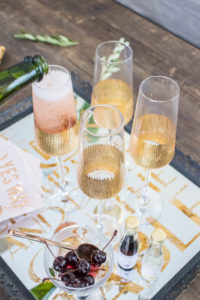 How to host a French inspired dinner party, start with an apertif- pre dinner drinks