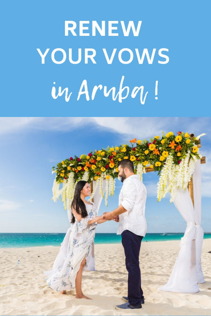Renew your vows in Aruba at the ultimate beach vow renewal!