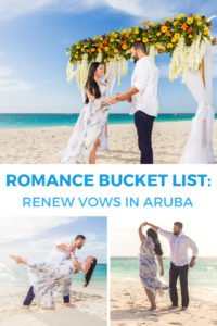 Add this to your romance bucket list: renew your vows on the beach in Aruba! The most romantic vow renewal and bucket list item to add to your Caribbean getaway