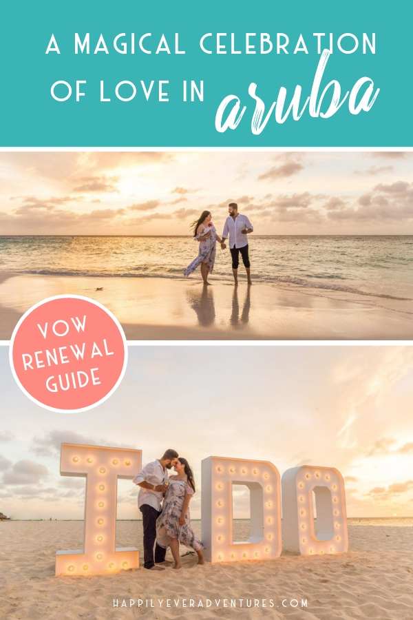 Aruba beach vow renewal, the ultimate guide to the largest vow renewal in the Caribbean and a beautiful celebration of love.