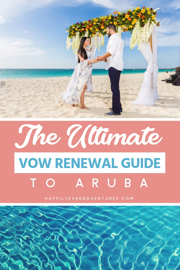 The ultimate vow renewal in Aruba at the largest vow renewal in the Caribbean guide. This vow renewal on the beach is such a romantic buck list relationship milestone! #vowrenewal