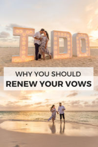 Why you should renew your vows, no matter how long you've been married! This Aruba vow renewal on the beach is so romantic