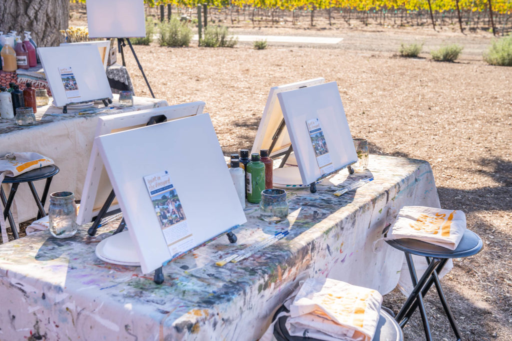 Painting class at a winery, things to do in Buellton, California a hidden gem along the California Coastline in the Santa Ynez Valley