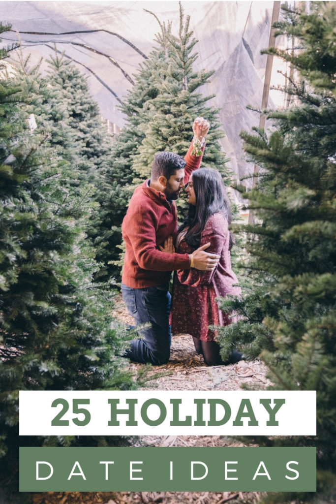 25 Holiday date ideas that are perfect for a romantic holiday season. All the Christmas date ideas you'll need!