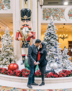 Look at Christmas decorations as a holiday date idea