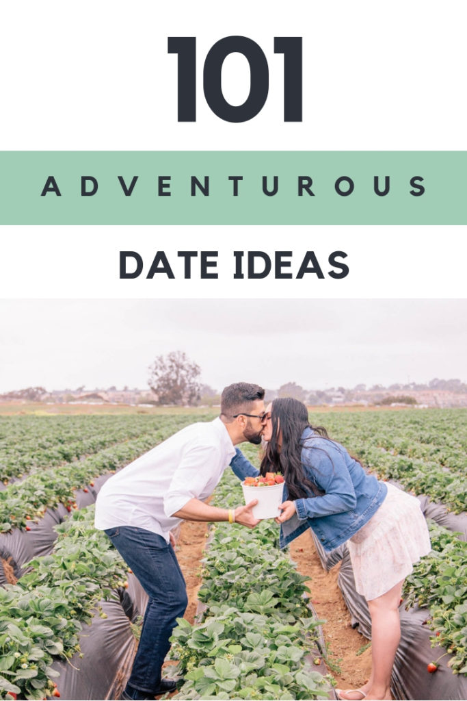 101 Adventurous date ideas for couples. These fun and exciting date activities are perfect to add to your relationship bucket list!