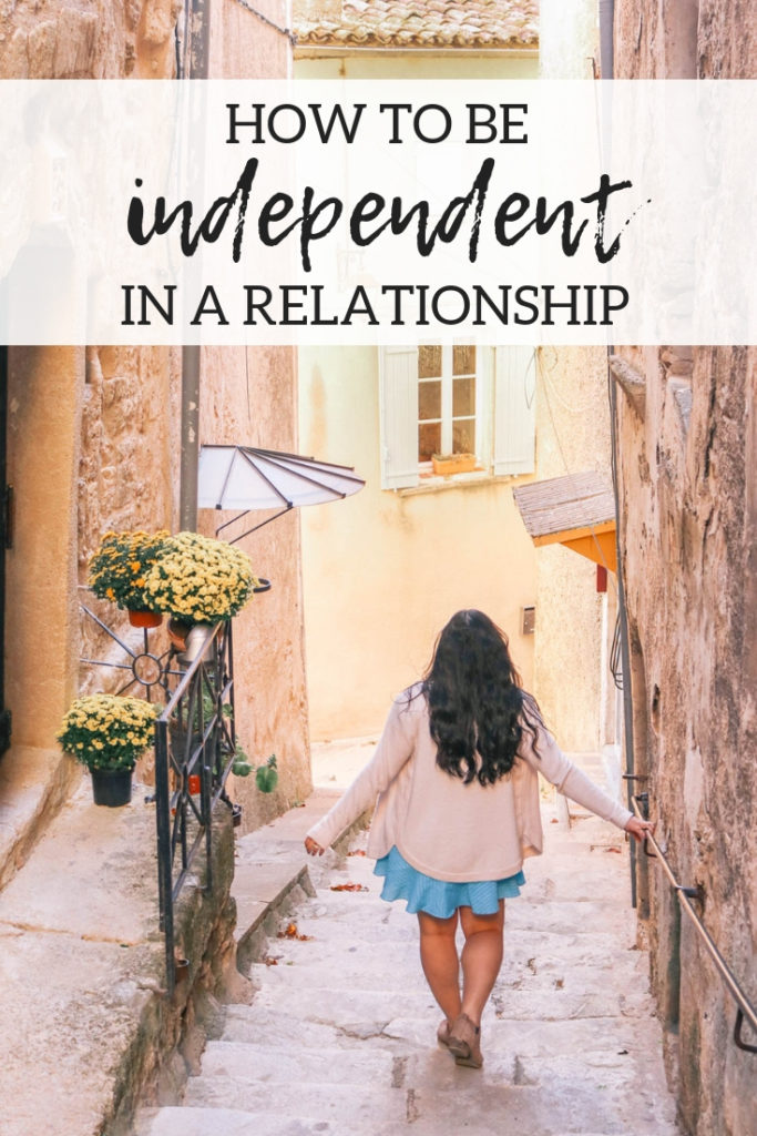 How to maintain independence in a strong and committed long term relationship.