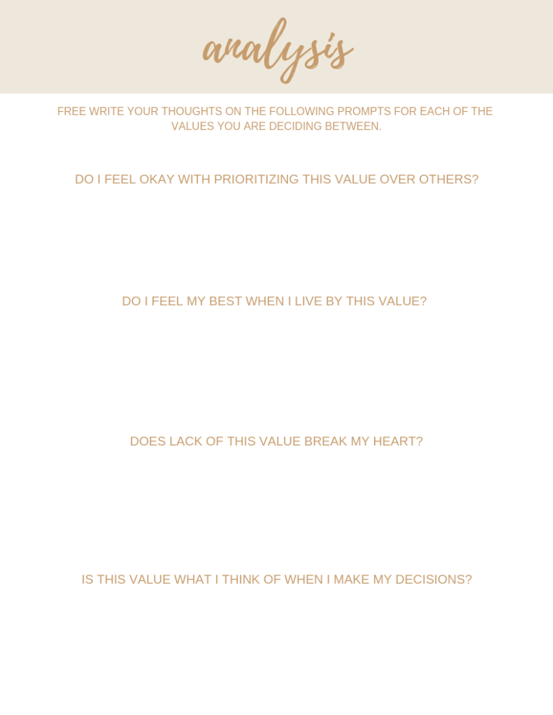 How to identify your value