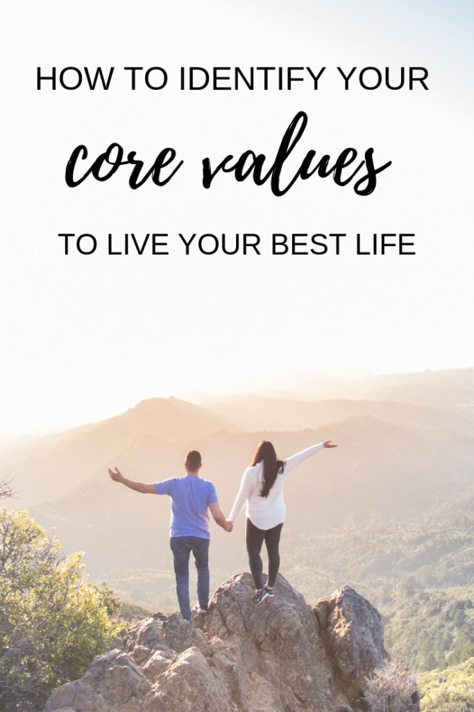 How to identify your core values to live your best life. This happiness life hack will help you make better decisions, improve your happiness, and help you live each day with meaning and purpose