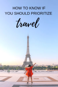 Should you quit your job and travel the world? Should you spend your savings on travel? Should you budget for travel? Here's how to know if travel is one of your core values and something that you should prioritize for a happy life