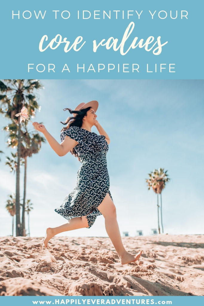 Finding your personal and business core values to live a happier life. This free printable worksheet will help you identify your values for better decision making and a happier, filled with purpose, more productive life