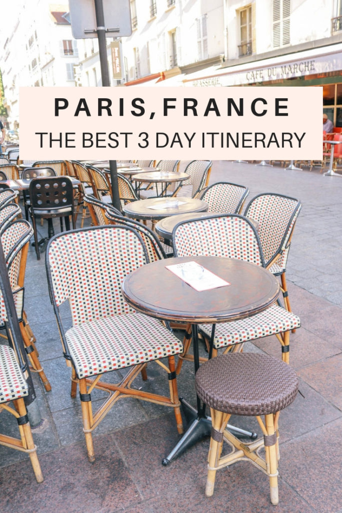 How to spend the best 3 days in Paris, France. All the travel tips and itineraries and which arrondissements to spend them in