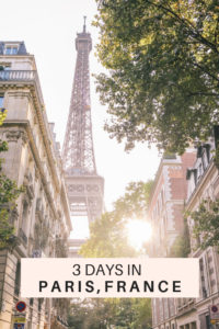 3 days in Paris, France travel itinerary. All the best tips on things to do, see, where to stay in the romantic city of Paris. #francetravel