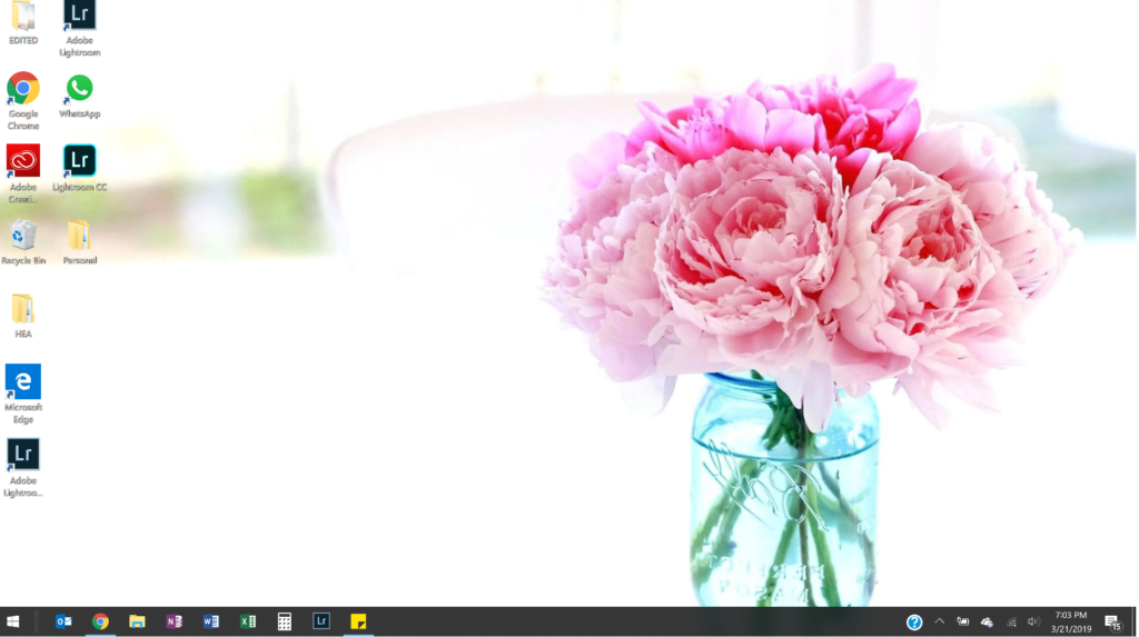 clean and clear computer desktop to spring clean life